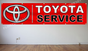 Toyota Banner Flag 2X8Ft Wall Decor Garage shop Toyota Parts/&Service Flag