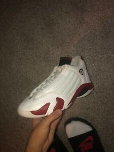 Nike Air Jordan 14 Retro Candy Cane Chicago White Red Black Sz 8  d1d91e211