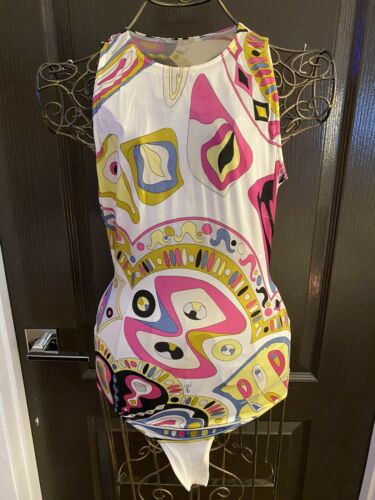 RARE EMILIO PUCCI One Piece Thong Bodysuit Swimsui