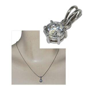 Pendentif-en-argent-massif-925-zirconium-blanc-solitaire-bijou