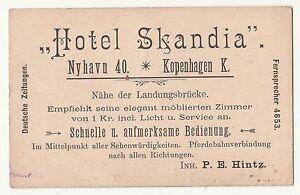 Details About Visitenkarte Hotel Skandia Nyhavn 40 Kopenhagen Dänemark Um 1930