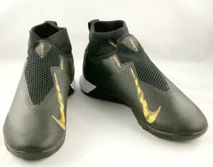 NWT-Nike-Men-039-s-React-Phantom-VSN-Pro-DF-IC-Soccer-Shoes-Black-Metallic-Gold-9-5