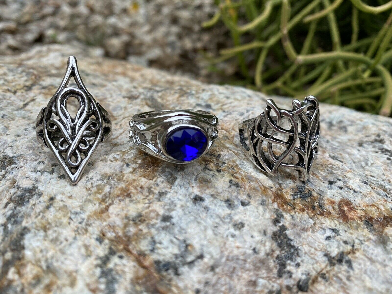 Lot of 2 Dwarf Rings Thorin Lord of the Rings Hobbit Combo LOTR