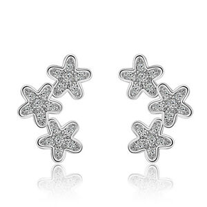 Women-Ladies-Elegant-925-Sterling-Silver-Cubic-Zirconia-Flower-Stud-Earrings