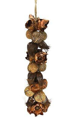 Enorme Colgante Decorativo Cuerda De Exótico Seca Semilla Vainas, 120cm Largo Estilo De Moda (En);