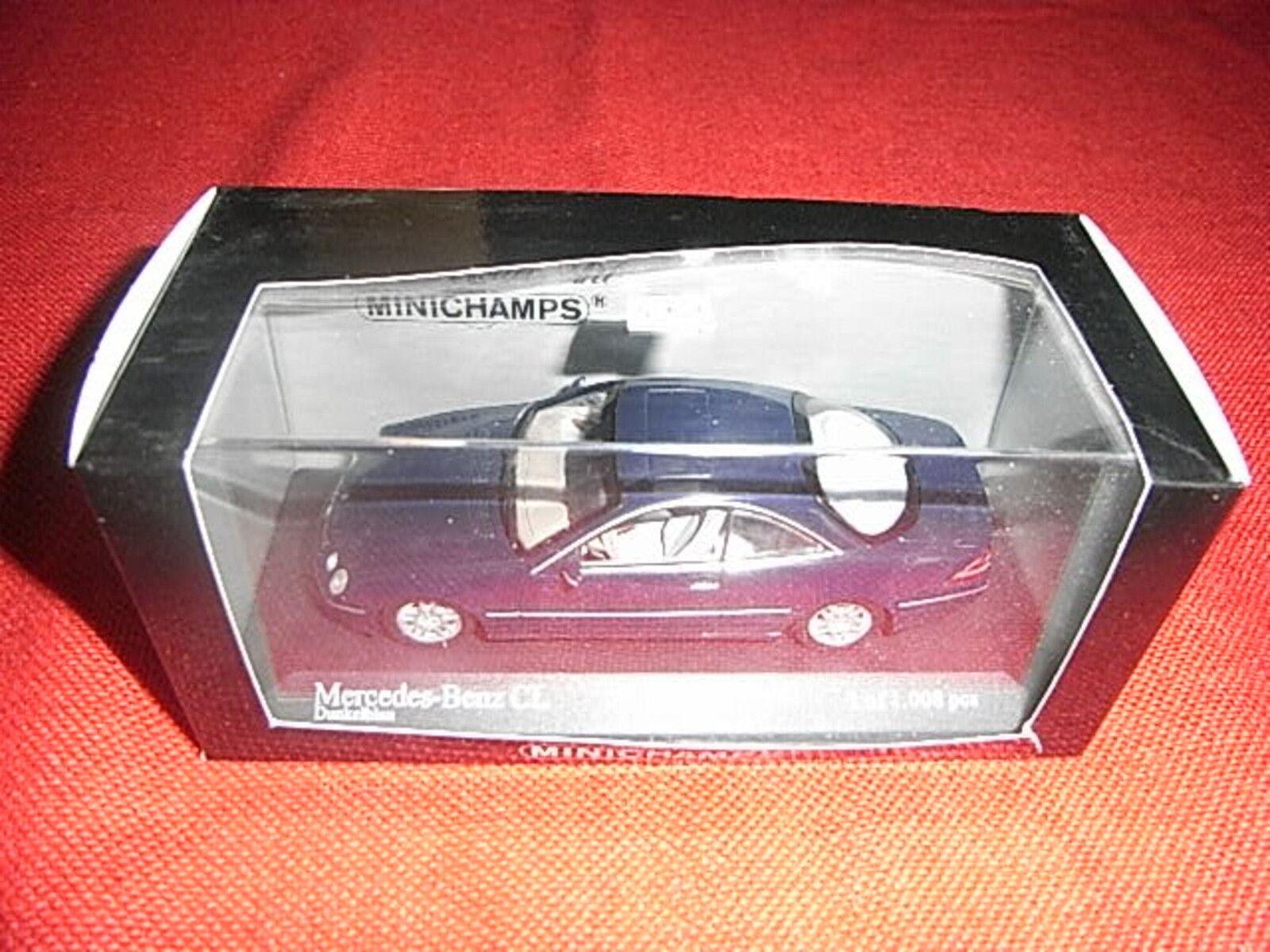 MINICHAMPS ® 430 038027 1 43 Mercedes-Benz CL Bleu Foncé Nouveau neuf dans sa boîte