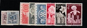 FRANCOBOLLI-1954-55-BELGIO-3-SERIE-MNH-Z-9343