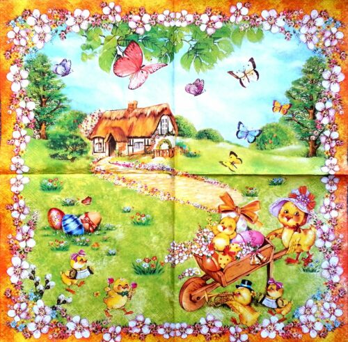4 Vintage Paper Napkins for Decoupage Lunch Decopatch Party Craft  Easter Mix 6