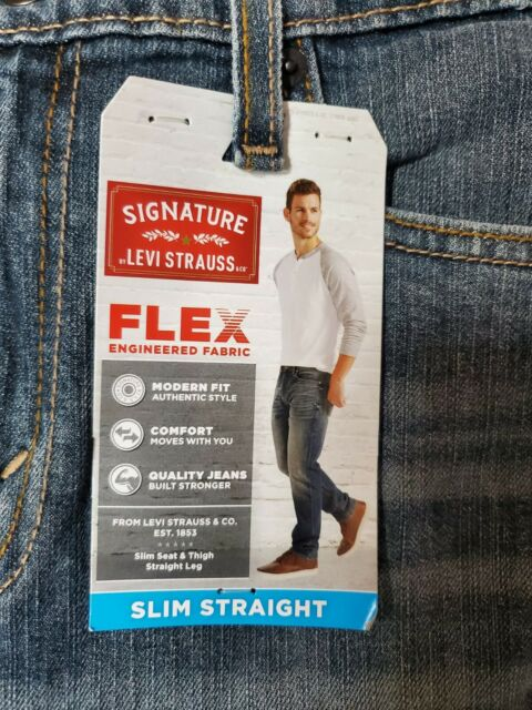 NWT Mens Jeans LEVI STRAUSS Signature Slim Straight Flex 30x32 30 32 NEW!