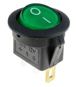10x Interrupteur A Bascule 12v Led Allumé un en Mini Spst Rond Commutateur à