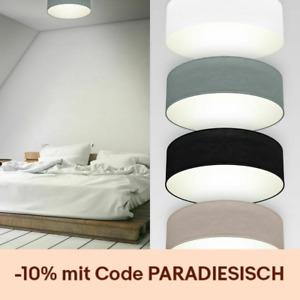 Deckenleuchte Stoff Textilschirm Deckenlampe Wohnzimmer Schlafzimmer E27 30cm