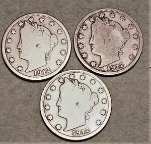 3 Liberty Nickel 1899-1912 GOOD CONDIION