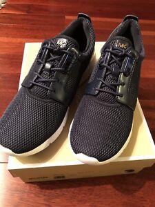 e88ec358ea812 Image is loading New-Michael-Kors-Amanda-Trainer-Mesh-Embossed-leather-