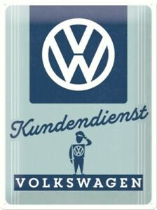 Tin Sign VW Customer Service Volkswagen, Nostalgia Sign 40cm, New, Metal Shield