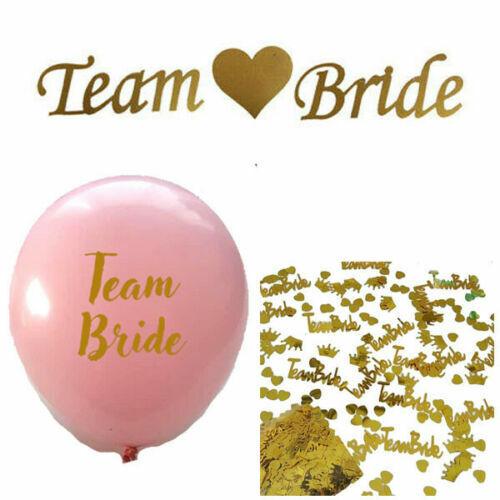 TEAM BRIDE LATEX BALLOONS BANNER BUNTING GARLAND /& CONFETTI HEN PARTY NIGHT DO