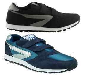 DUNLOP-MENS-XLC-TWIN-STRAP-BLACK-BLUE-CASUAL-SNEAKERS-VOLLEYS-SHOES-UK-SIZE-6-13