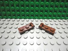 Lego 2 Reddish Brown 1x2 hinge plate with closed handle on the end NEW