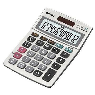 Casio MS-120MS Solar 12-Digit Large Display Desk Business Tax VAT Calculator New