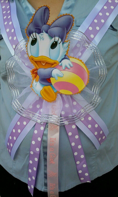 Newborn Party Decoration Mom Favor Gift Footprint Baby Shower Sash Boy Girl