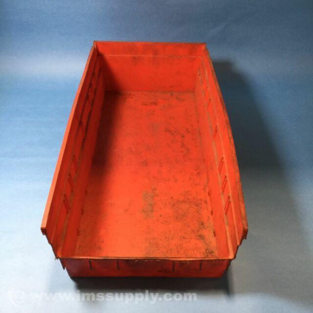 """Akro-Mils 30138 Clear Bins 17 7//8/"""" x 6 5//8/"""" x 4/"""" Used Lot of 12"""