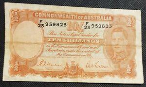 1939 Australia 1st 10 Shillings George VI R12 SHEEHAN/McFARLANE gF  F/23 450299