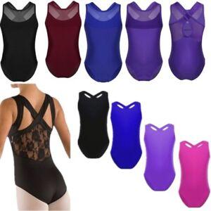 5215c8338139 Image is loading Girls-Ballet-Dress-Gymnastics-Leotards-Mesh-Splice-Dance-