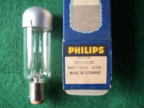 . Philips A1//168 240V 150W Bombilla//Lámpara de proyección Nuevo Stock Viejo