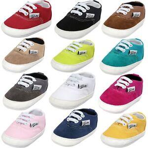 Baby-Girl-Boy-Sneakers-Pram-Shoes-Soft-Sole-Anti-slip-Crib-Trainer-Prewalker-NEW