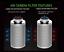 canalizzazione Flusso misto Kit Ventilatore in linea 100mm Filtro di carbonio 125mm Corda Cricchi