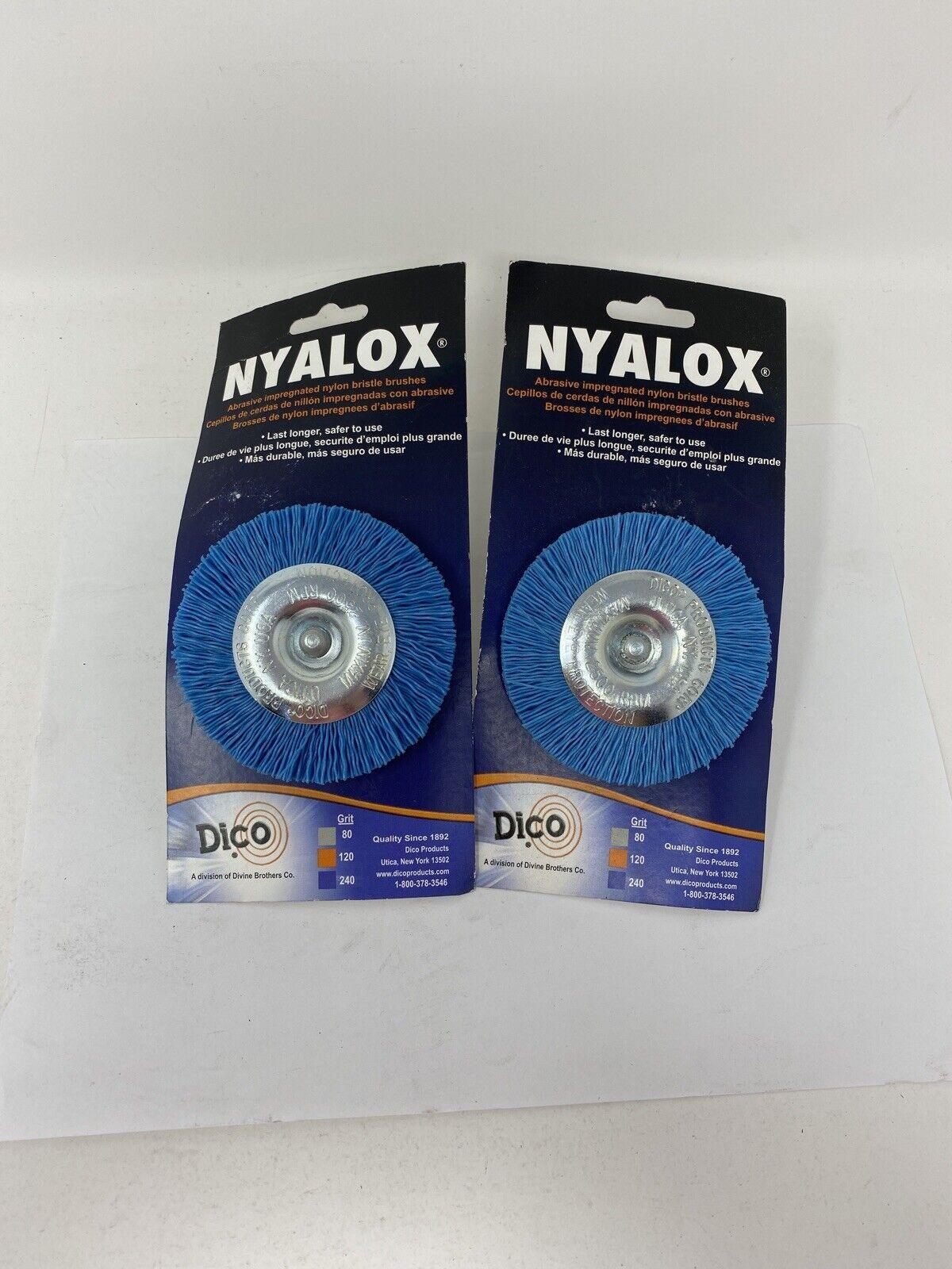 Dia Fine Crimped  Wire Wheel Brush  2500 rpm Nyalox Dico  3 in