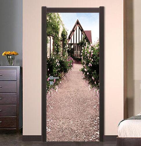 3D Haus Muster 80 Tür Wandmalerei Wandaufkleber Aufkleber AJ WALLPAPER DE Kyra | Sonderaktionen zum Jahresende  | Gutes Design  | Starker Wert