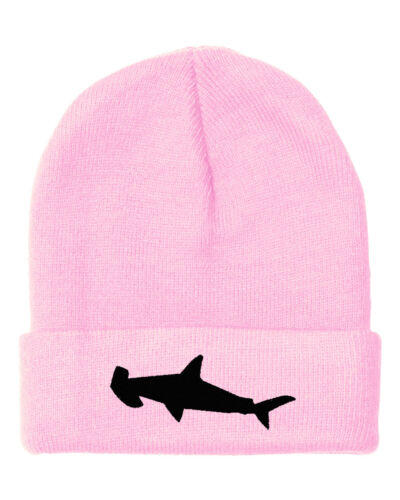Hummer Head Shark Embroidery Embroidered Beanie Skully Hat Cap