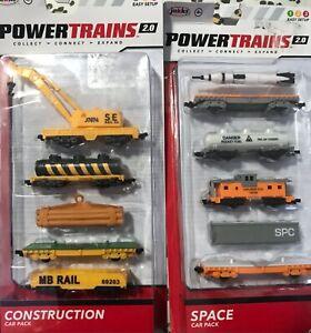 Jakks Power Trains 2.0 Construction Space  Car Pack Lot of 2