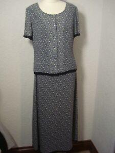 f15678c3dbb Laura Ashley navy   blue ditsy floral silk chiffon lace skirt   top ...
