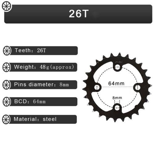 FMFXTR 26//38t 2X10s Double Speed 104//64bcd MTB Bike Crankset Crank Chainring