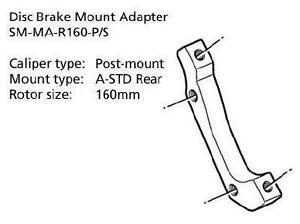 Shimano-Disc-Brake-Adapter-SM-MA-R160-PS-Rear-160mm-Rotor-Post-A-STD-Mount