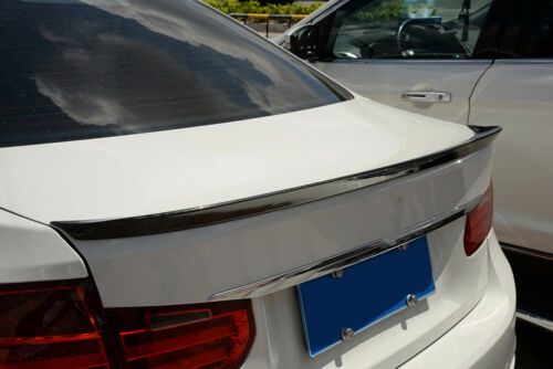 3D Style Rear Trunk Lid Spoiler Lip  Wing Fit for BMW F30 2011-2014 Carbon Fiber