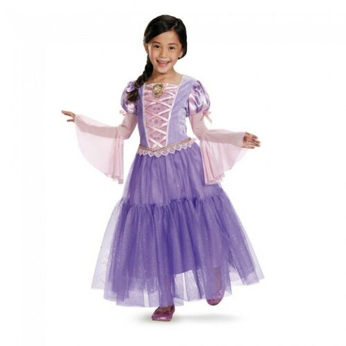 Costume Girls Princess Rapunzel Disney Princess Girls Costume Kids Dress NEW