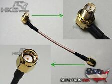 FPV Video Transmitter Antenna Extension Cable 90 Degree RP-SMA To RP-SMA Jack