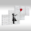 Quadro-su-Tel-Tela-via-Art-Banksy-Ragazza-con-Rosso-Palloncino-ad-Aria thumbnail 30