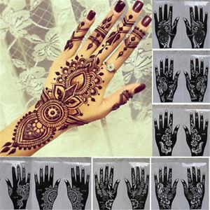 Temporary Hand Decal Tattoo Stencils Henna Template Sticker Diy Body Art Ebay