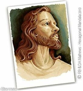 ART-Portrait-of-Jesus-Christ-Christian-God-Original-Artist-Print-by-Di