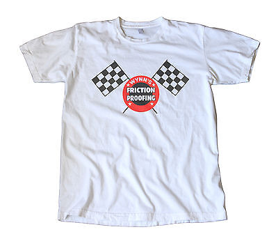 Vintage Wynn/'s Friction Proofing Decal T-Shirt Speed Racing Chevy Hot Rod