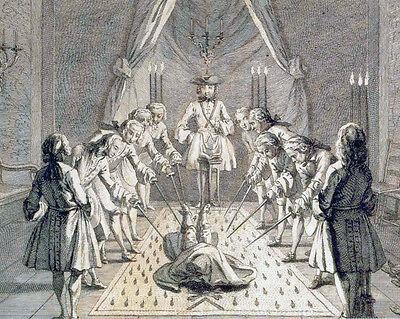 Vintage Freemason Illuminati Painting 8x10 Real Canvas Giclee Art Print New
