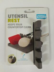 Heat-Resistant-Spoon-Rest-Kitchen-Utensil-Spatula-Holder-Silicone-Cooking-Mat