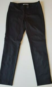 THIRD-MILLENNIUM-Black-Stretch-Satin-Pants-Size-10