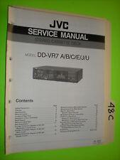 JVC dd-vr7 service manual original repair book stereo cassette deck tape player