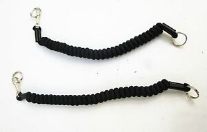 Twisty-Lanyard-Peter-Jones-CS-Gas-Holder-Or-Cuff-Key-Split-Ring-amp-Spring-Clip-B2