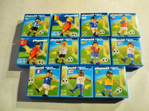 11 x Fußballspieler NEU OVP Fußballer Kick Funktion SET 4 Playmobil Sammlung