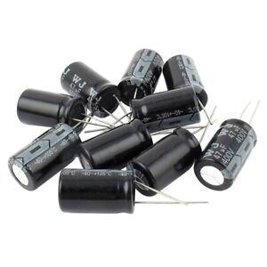 10-Pcs-400V-47uF-105C-Radial-Lead-Electrolytic-Capacitor-16mm-x-25mm-J2E3